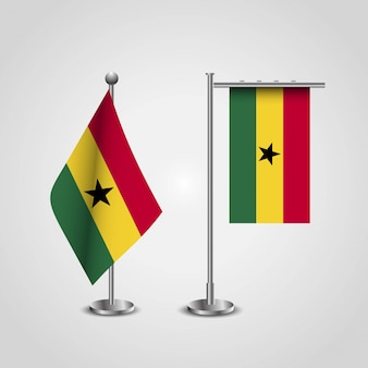 Ghana country flag on pole