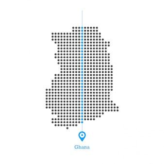 Ghana doted map desgin vector