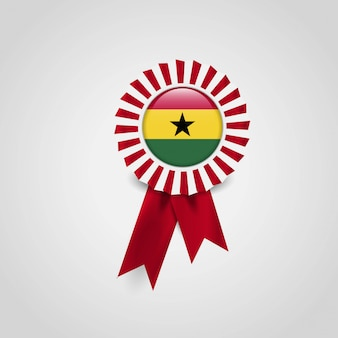 Ghana flag ribbon banner badge