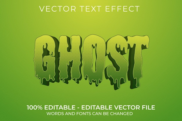 Призрак 3d редактируемый текстовый эффект