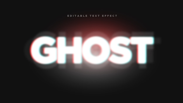 Ghost 3d эффект стиля текста