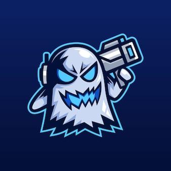 Ghost bazooka mascot logo