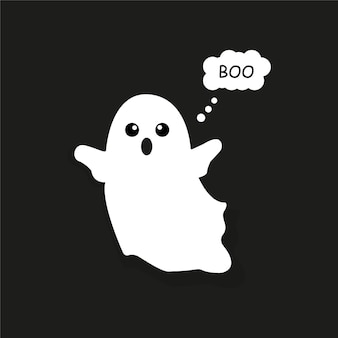 Ghost on a black background vector graphics