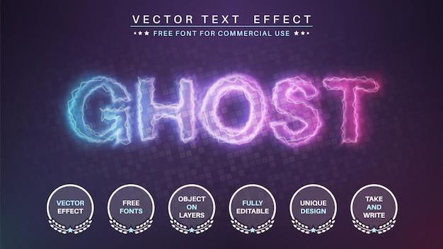 Ghost editable text effect  font style