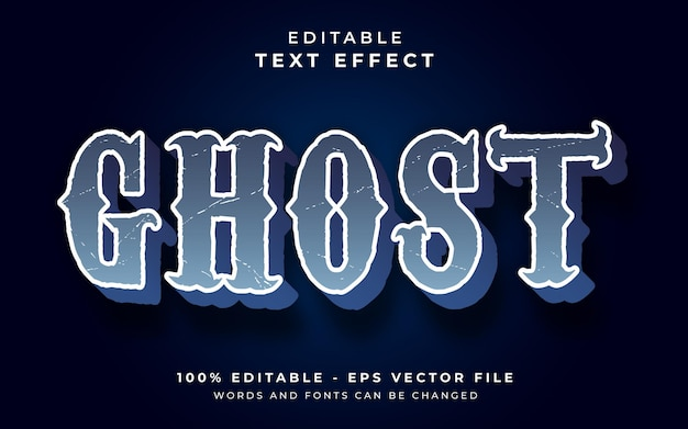 Ghost editable text effect