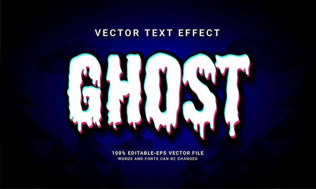 Ghost editable text style effect with halloween event theme