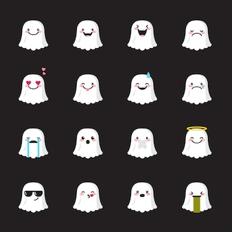 Ghost emoji icon set