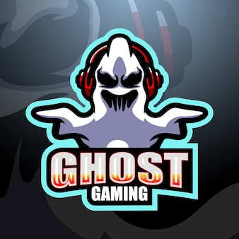Ghost gaming mascot esport illustration