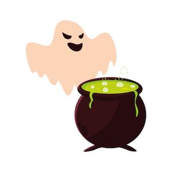 Ghost happy halloween celebration