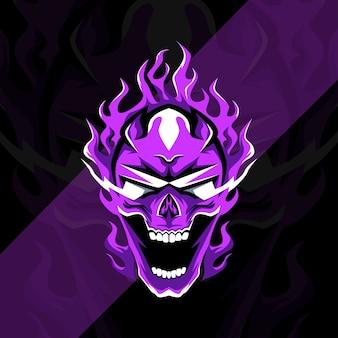 Призрак талисман логотип киберспорт дизайн шаблона