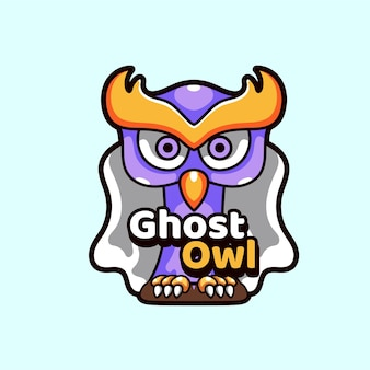 Illustrazione delle mascotte del gufo fantasma