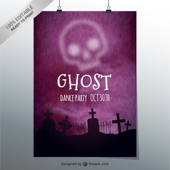유령 파티 포스터 템플릿