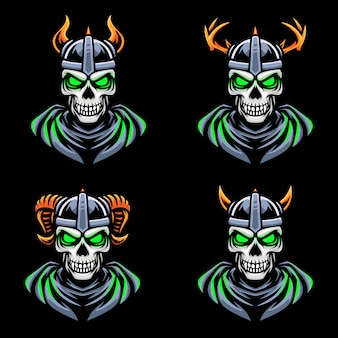 Ghost skull viking esport gaming