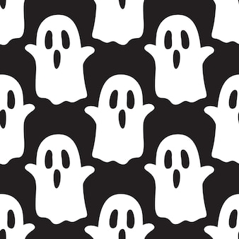 Ghost spooky halloween seamless pattern