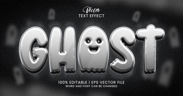 Ghost text, 3d horror editable text effect style template