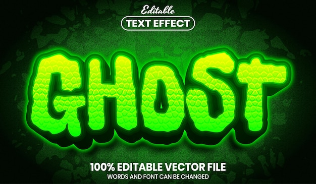 Ghost text, editable text effect