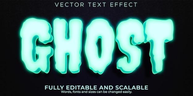 Призрачный текстовый эффект, редактируемый ужас и мультяшный стиль текста