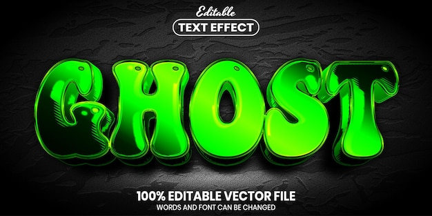 Ghost text, font style editable text effect