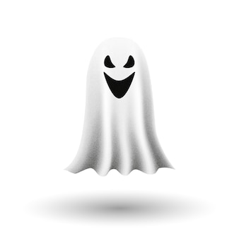 Ghost on white background.