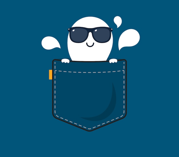 A ghost with shade behind the pocket