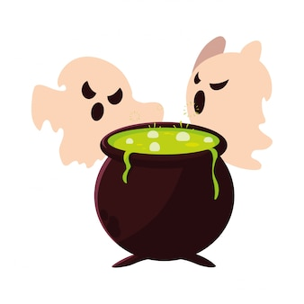 Ghosts happy halloween celebration