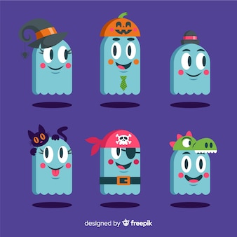Ghosts wearing costumes for halloween