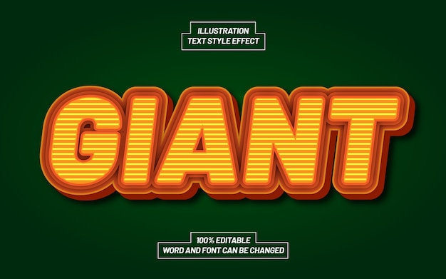 Giant bold text style effect
