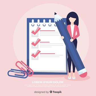 Giant check list illustration