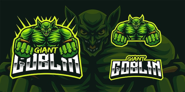 Giant goblin  mascot logo for gaming twitch streamer gaming esports youtube facebook