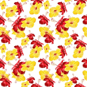 Gibiscus seamless pattern