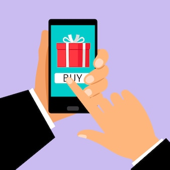Gift app page on smartphone screen
