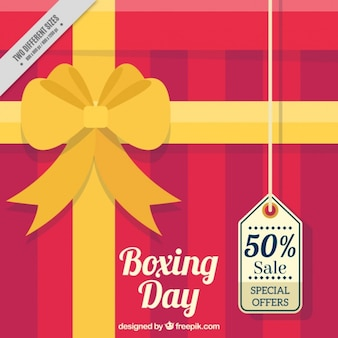 Gift background with boxing day tag
