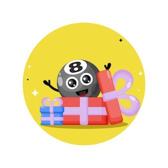 Gift billiard ball cute character mascot