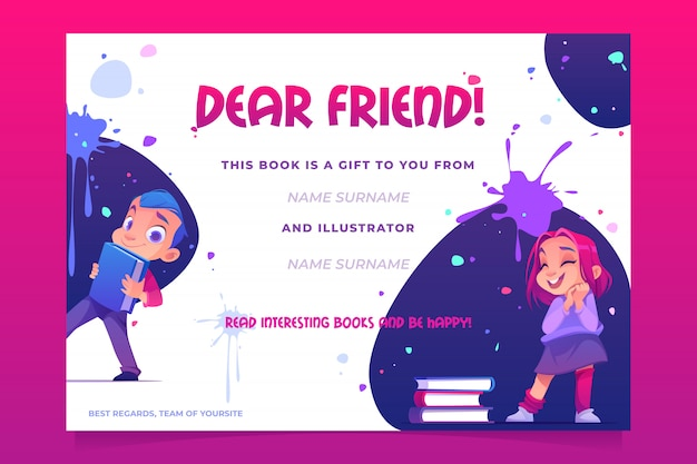 Gift book card