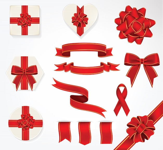 Gift bows and ribbons collection
