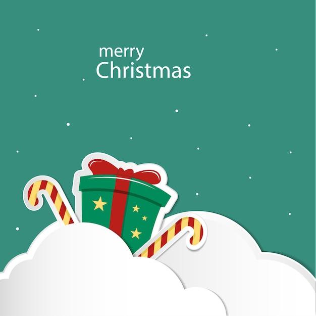 Gift box on cloud christmas