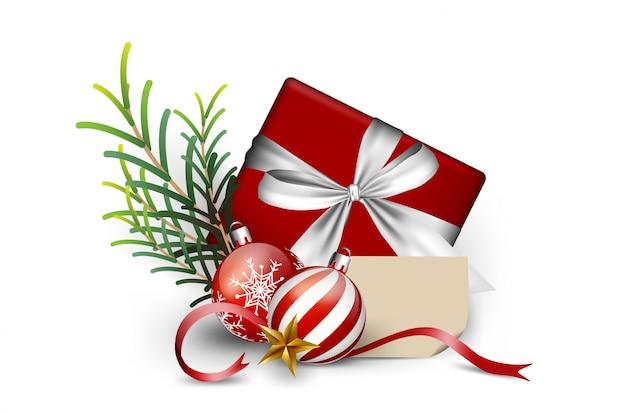 선물 상자 요소 크리스마스, 겨울 배경 장식 메리 크리스마스