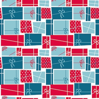 Gift box holiday seamless pattern background vector illustration. eps10