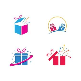 Подарочная коробка значок векторные иллюстрации дизайн