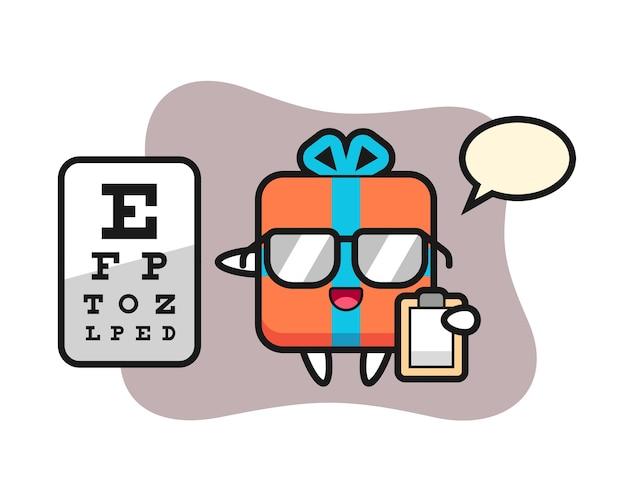 眼科としてのギフトボックスマスコット