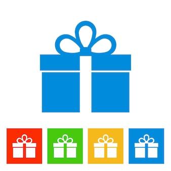 Gift box. new year icon. vector illustration