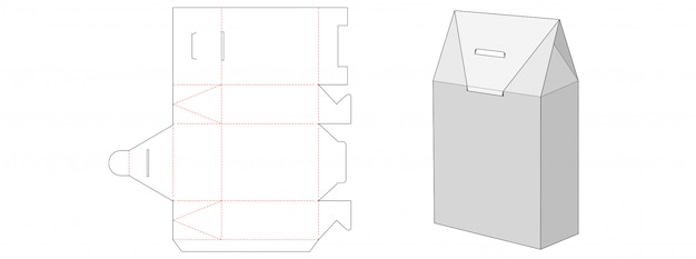 Gift box packaging die cut template design