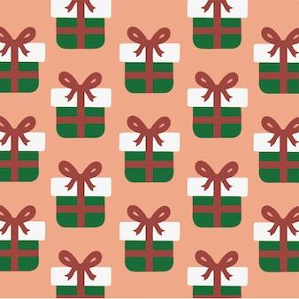 Подарочная коробка узор фона социальных сми сообщение рождество векторные иллюстрации