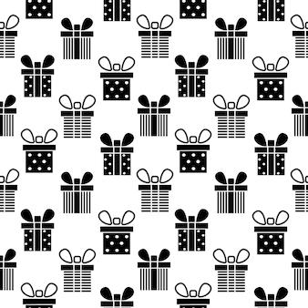 선물 상자 원활한 패턴 현재 패턴 벡터 일러스트 레이 션 디자인