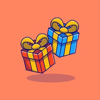 Подарочная коробка векторные иллюстрации дизайн