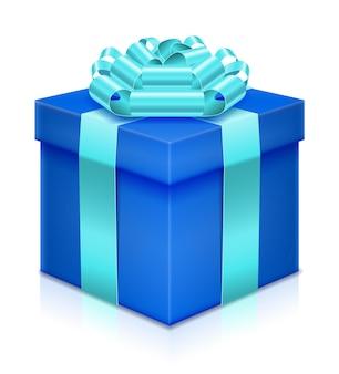 활과 리본 화이트 선물 상자