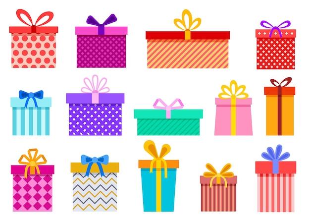 선물 상자. 크리스마스 선물 포장 패키지. 크리스마스, 생일