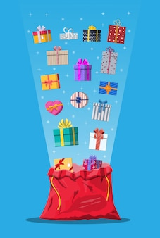 Gift boxes in cloth bag