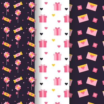 Gift boxes and letters valentine seamless pattern