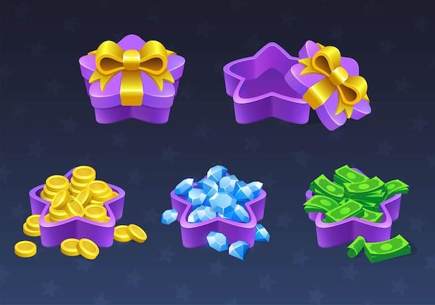 Подарочные коробки открываются и закрываются